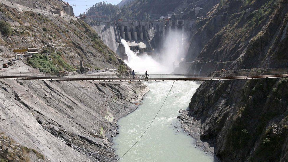 The Baglihar dam, a 450 MW hydropower project, was built on the Chenab river in Indian-administered Kashmir in 2008