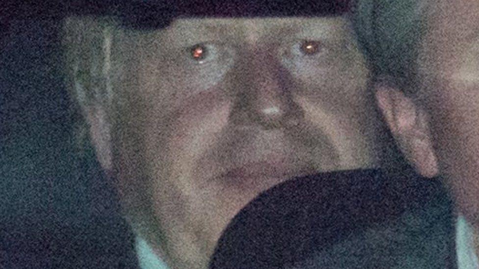 Boris Johnson leaving Chequers on Friday evening