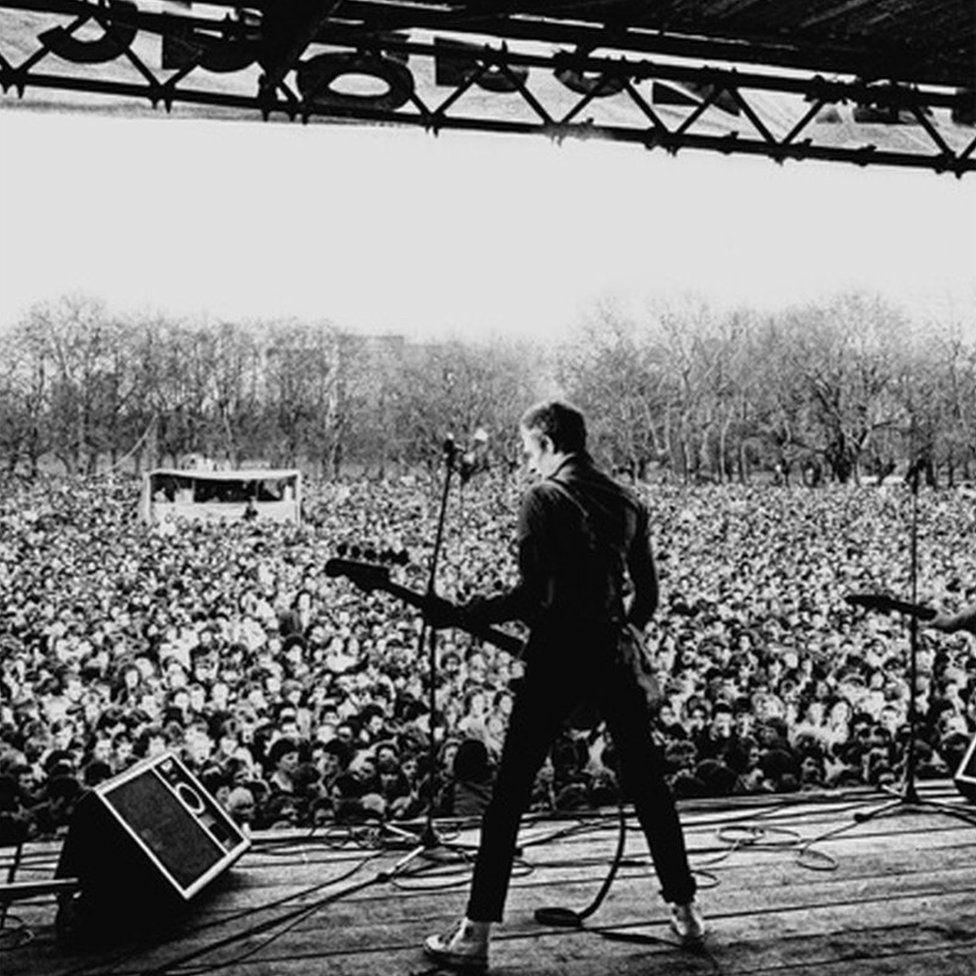 Paul Simonon, The Clash, Victoria Park 30 April, 1978