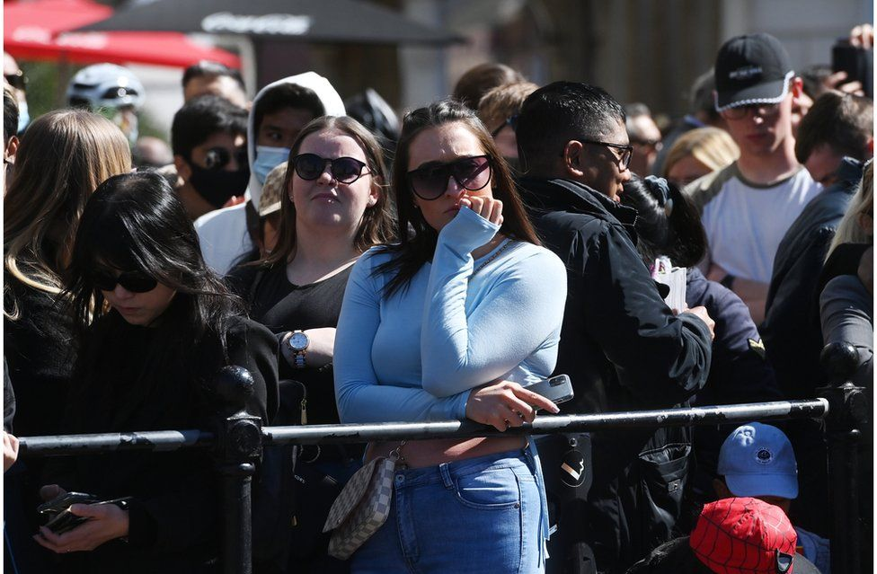 Public gathered in Windsor town centre for the funeral