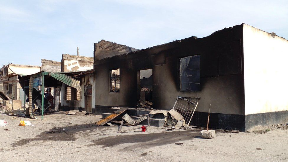Properties destroyed by fire