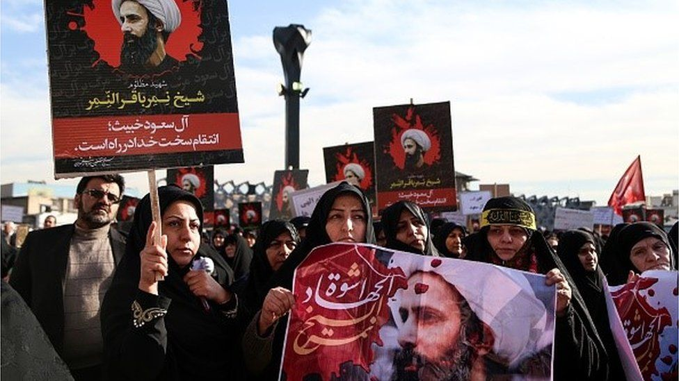 Protestors in Tehran