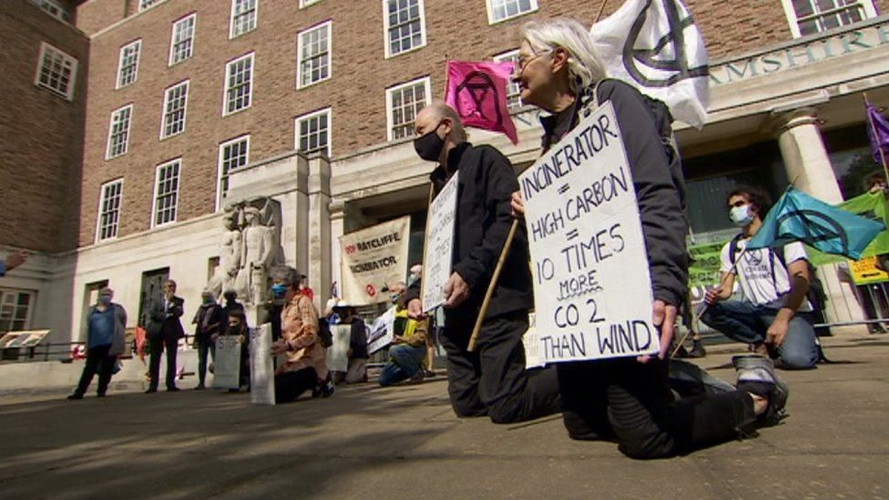 Nottinghamshire County Council protest