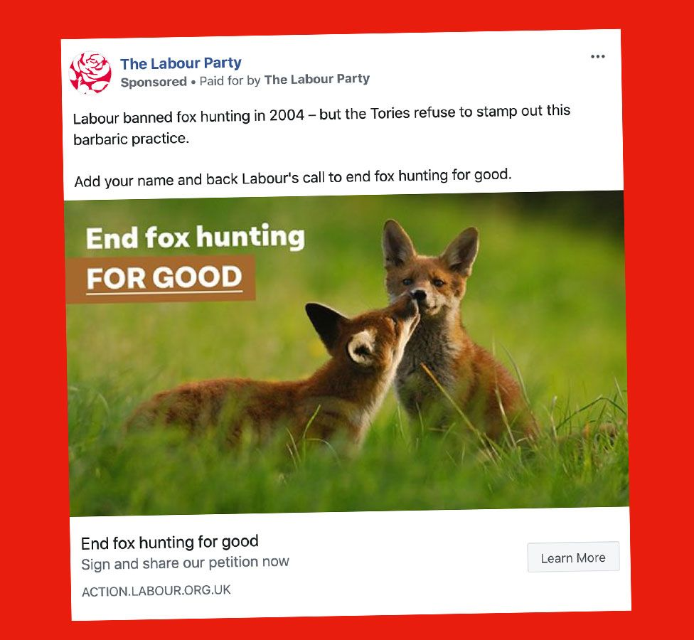 Labour advert against fox hunting