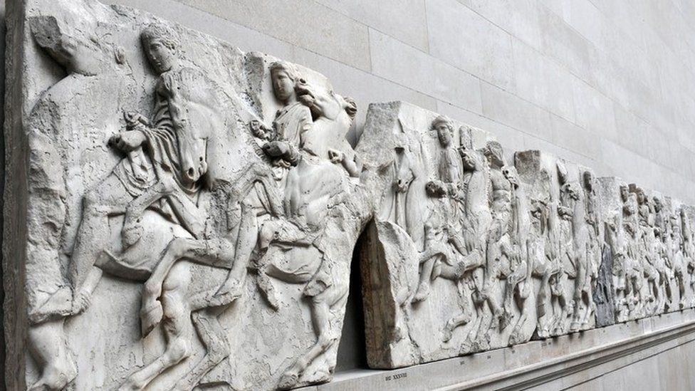 The West Frieze of the Parthenon Sculptures - Elgin Marbles