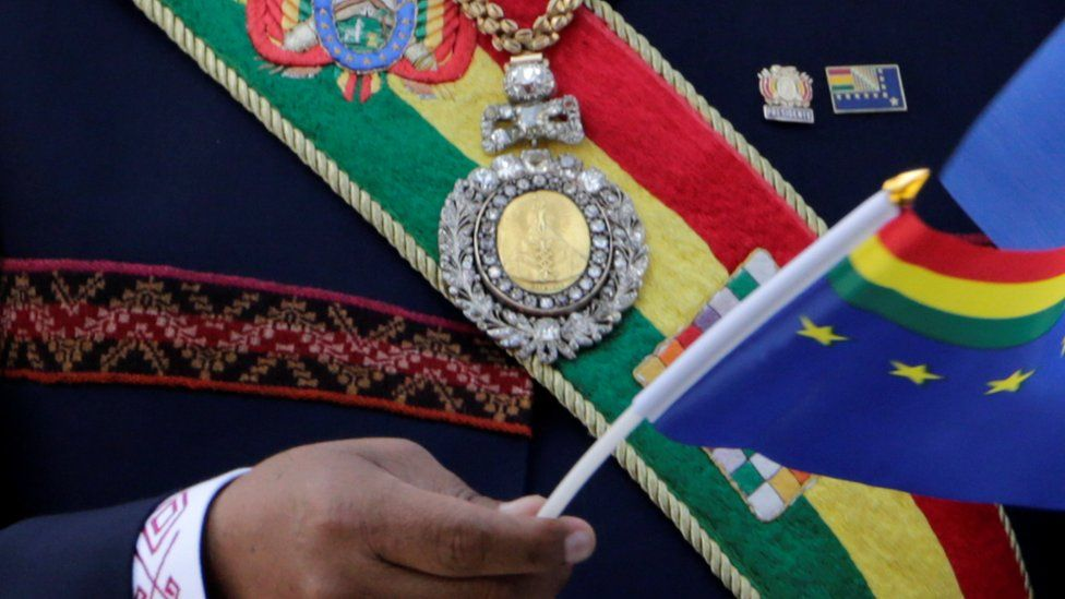 Bolivian presidential medal and sash