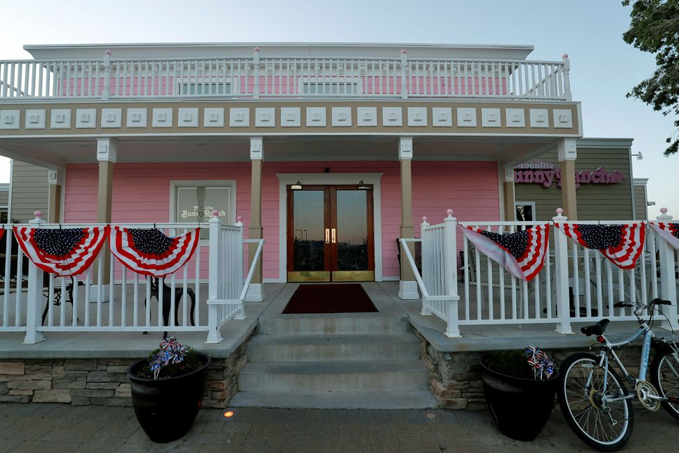 An exterior view of the Moonlite Bunny Ranch legal brothel