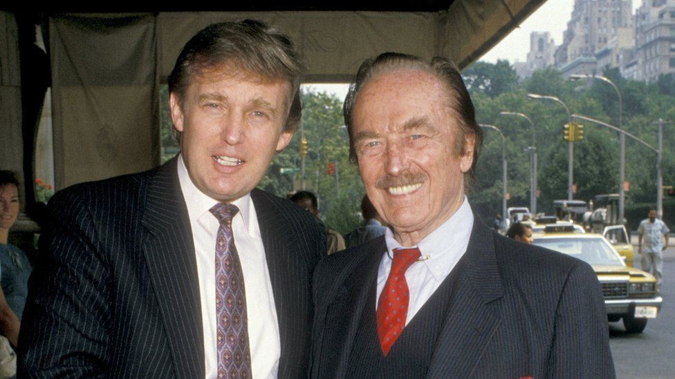 Donald and Fred Trump in 1988 at The Plaza Hotel in New York City