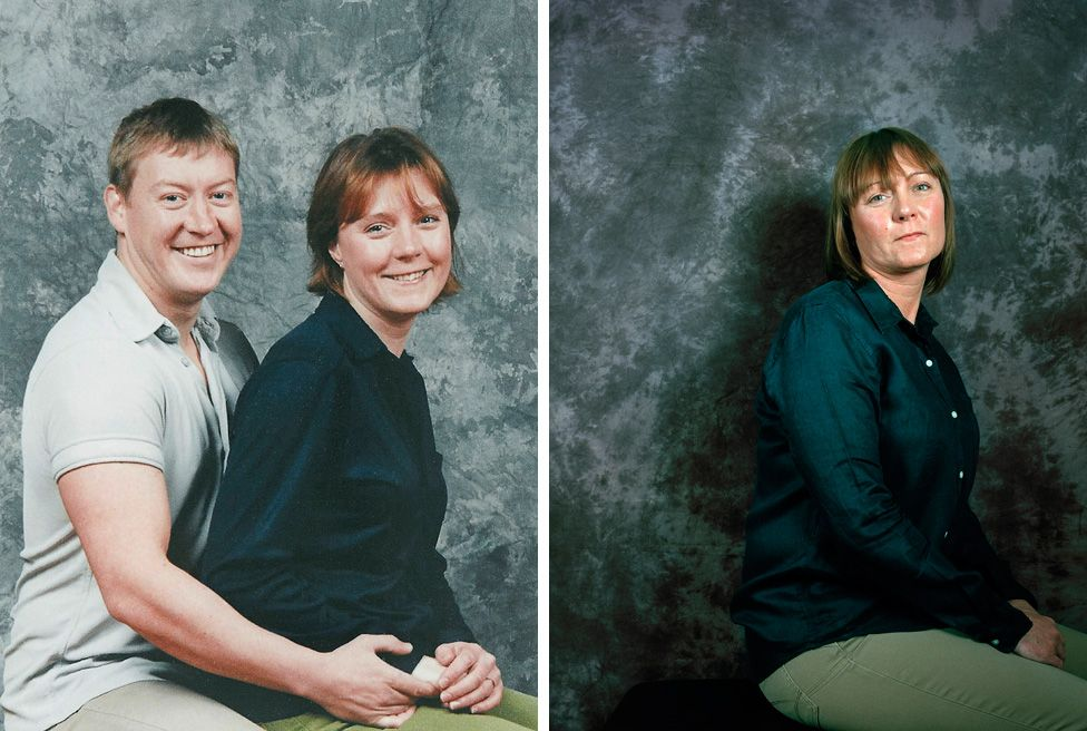 (Left) Gary and Toni O'Donnell in 2000 (Right) Toni O'Donnell, 2015