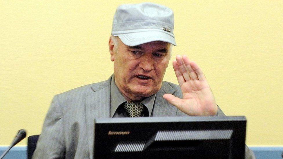 Ratko Mladic in court, 3 Jun 2011