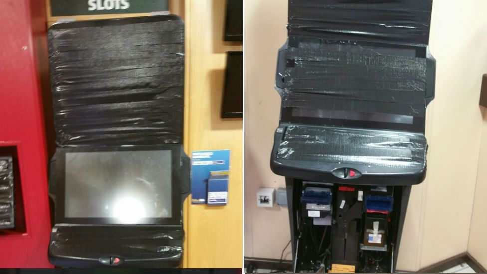 Damage to betting terminals