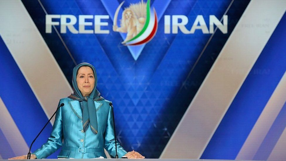 """Maryam Rajavi, leader of the People's Mujahedin of Iran delivers a speech during the meeting """"Free Iran 2018 - the Alternative"""