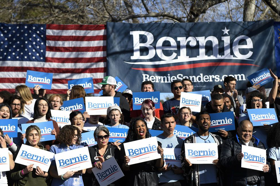 Sanders fans in Nevada