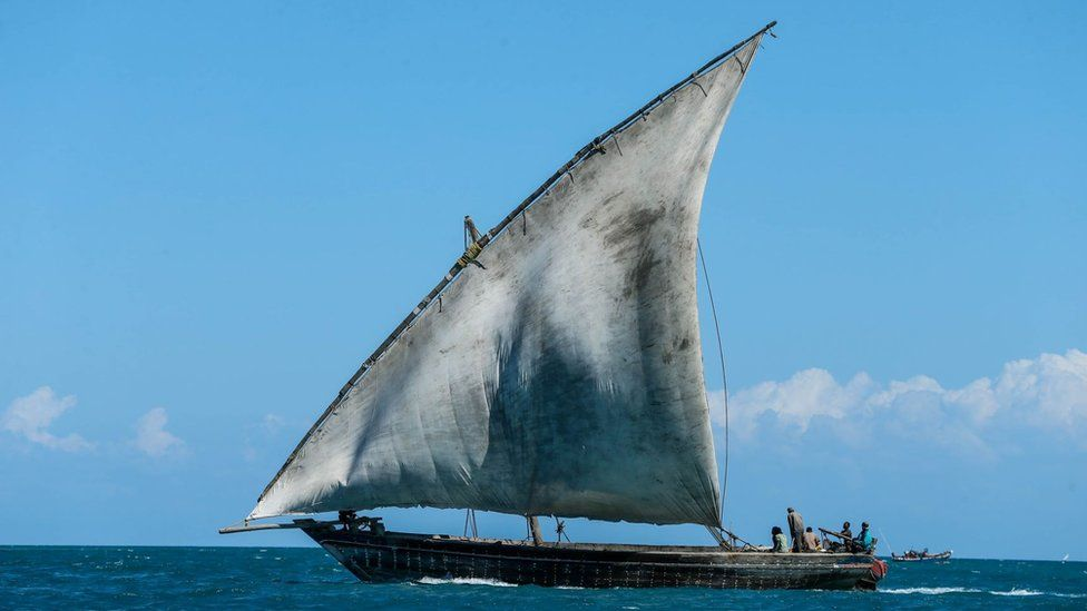Traditional Zanzibari fishing boat