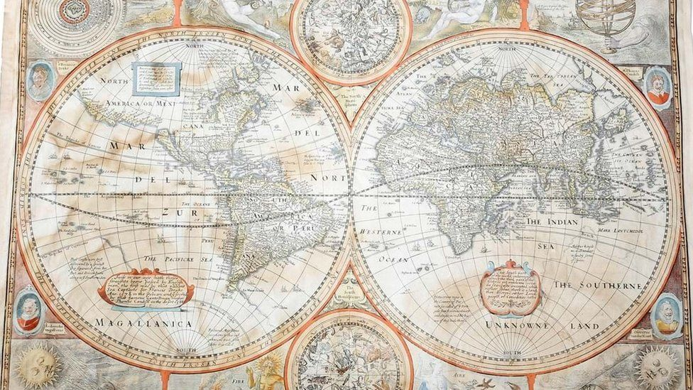 Rare world map found in Oxfam shop sells for £3.5k
