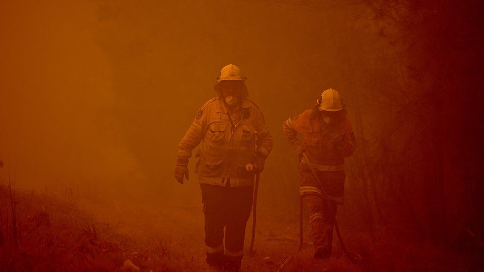 Firefighters tackle blazes in New South Wales