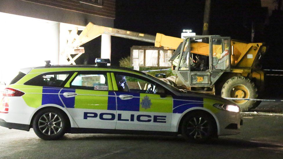 Police attended at 02:43 BST