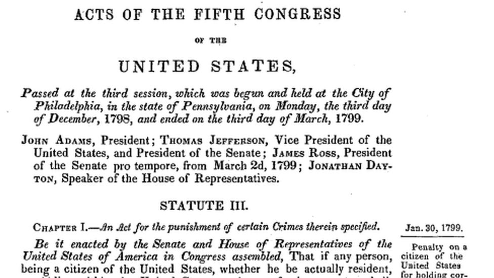A passage from the Logan Act