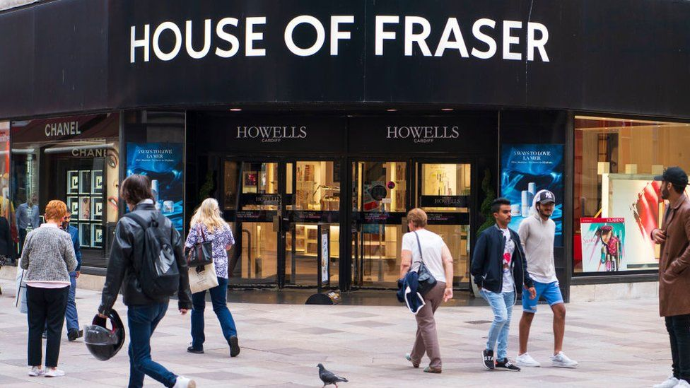House of Fraser sign