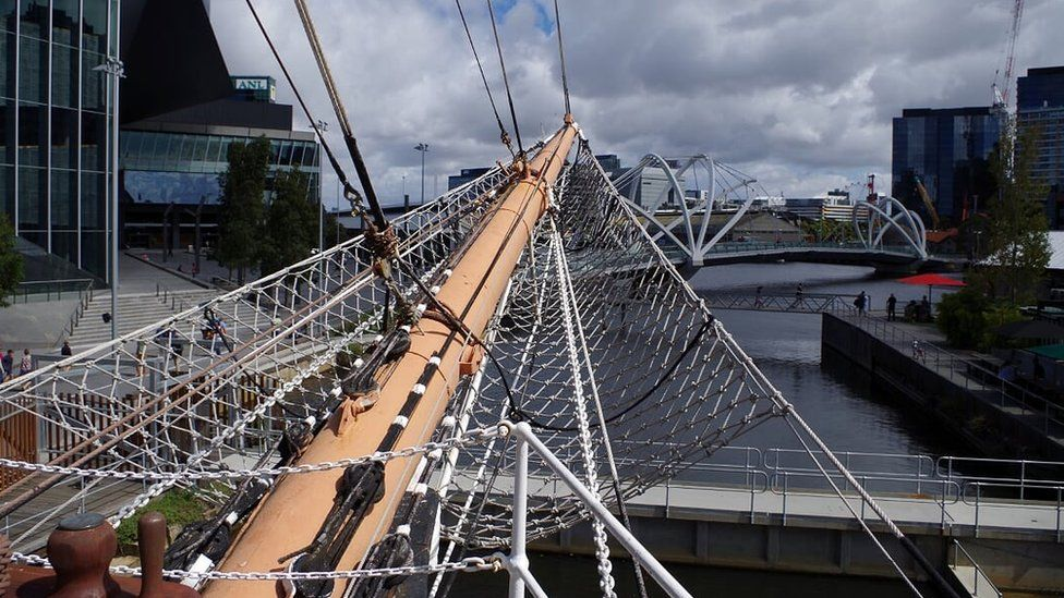 Bowsprit of the Polly Woodside