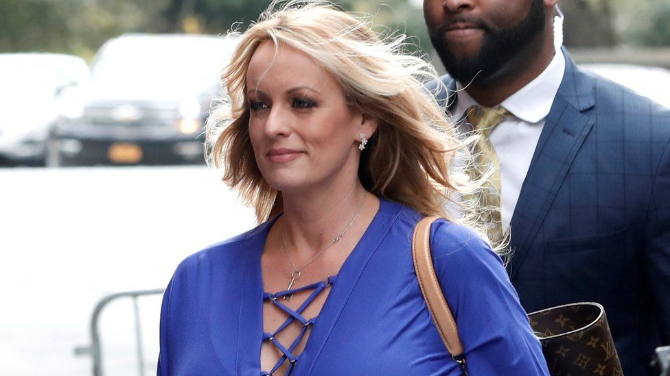 Adult-film actress Stormy Daniels, in New York City, New York, April 2018