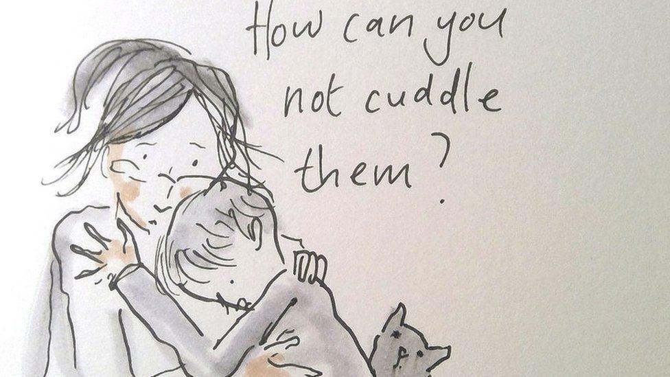 Cuddle illustration