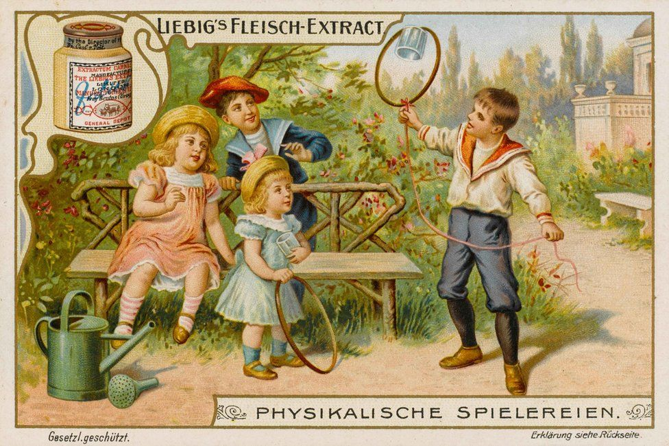 An advert for one of Liebig's products