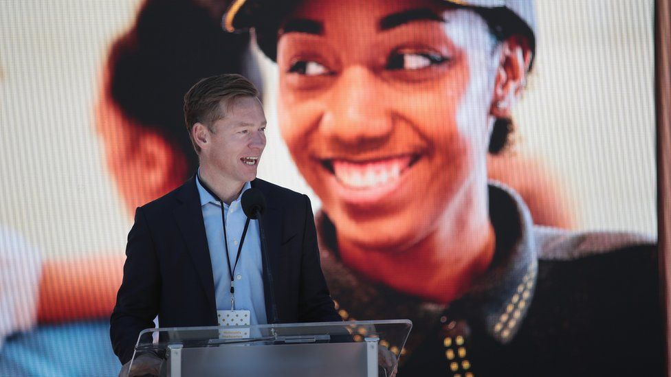 Chris Kempczinski, president of McDonald's USA, speaks at the unveiling of McDonald's new corporate headquarters during a grand opening ceremony on June 4, 2018 in Chicago, Illinois.