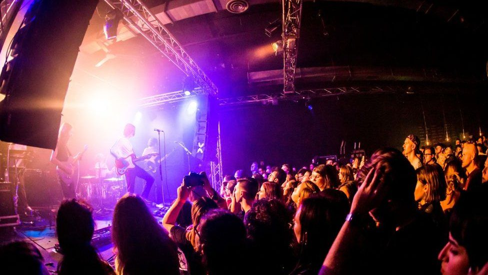 Blossoms gig and crowd
