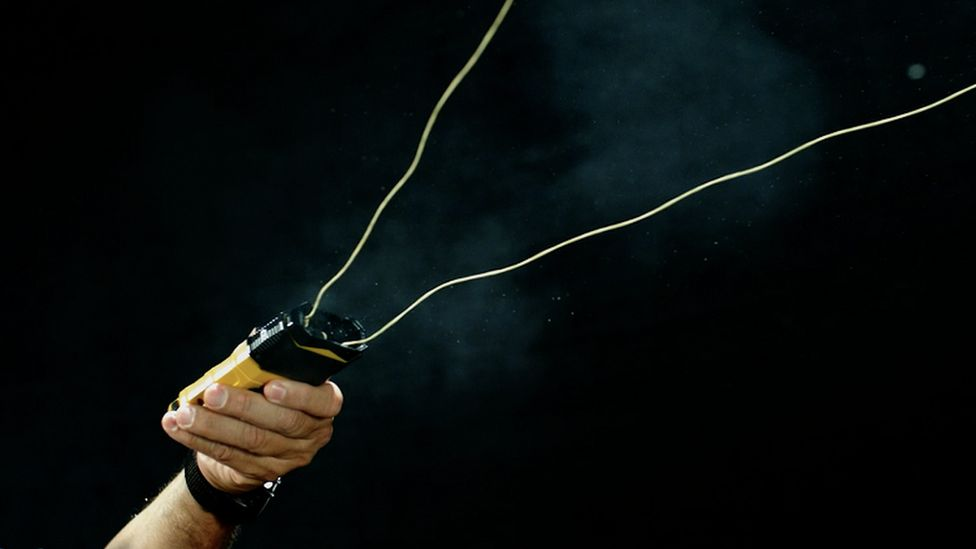 The BolaWrap, a device designed to entangle an individual in a cord, restricting their movement
