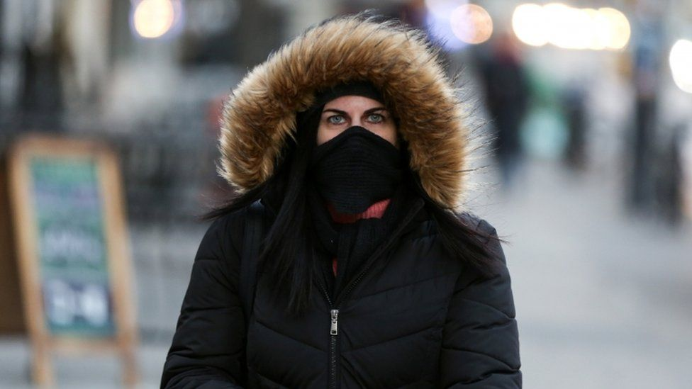 Commuters across North America are bundling up
