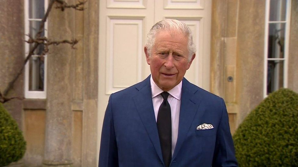 BBC News of The Prince of Wales, speaking to the media at his Gloucestershire home Highgrove