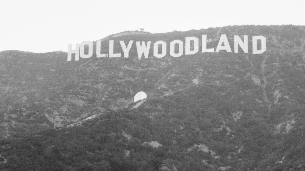 The iconic sign in the Hollywood hills