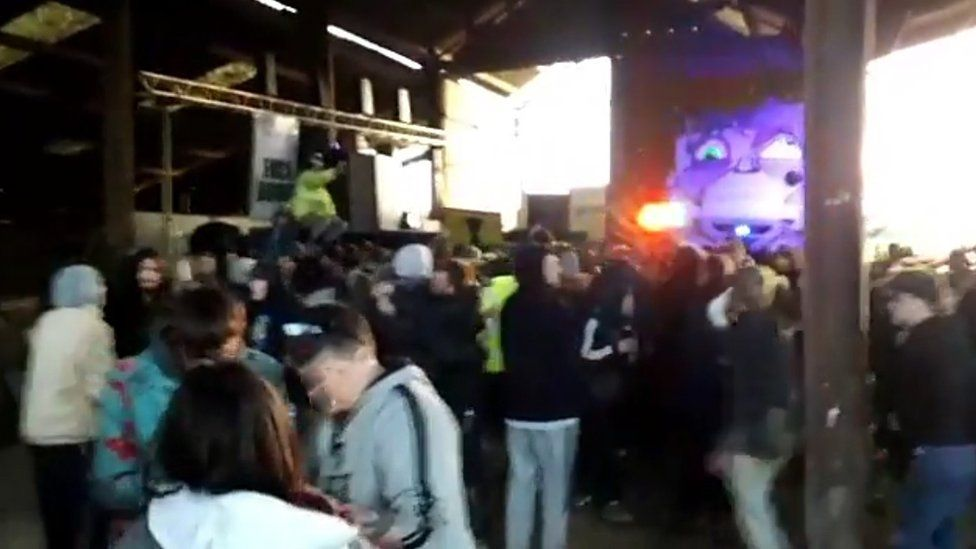 Crowd in rave