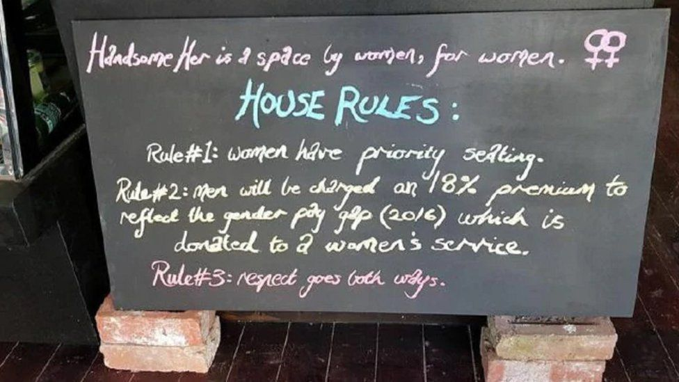 Handsome Her: Australian vegan café to close after 'man tax' furore