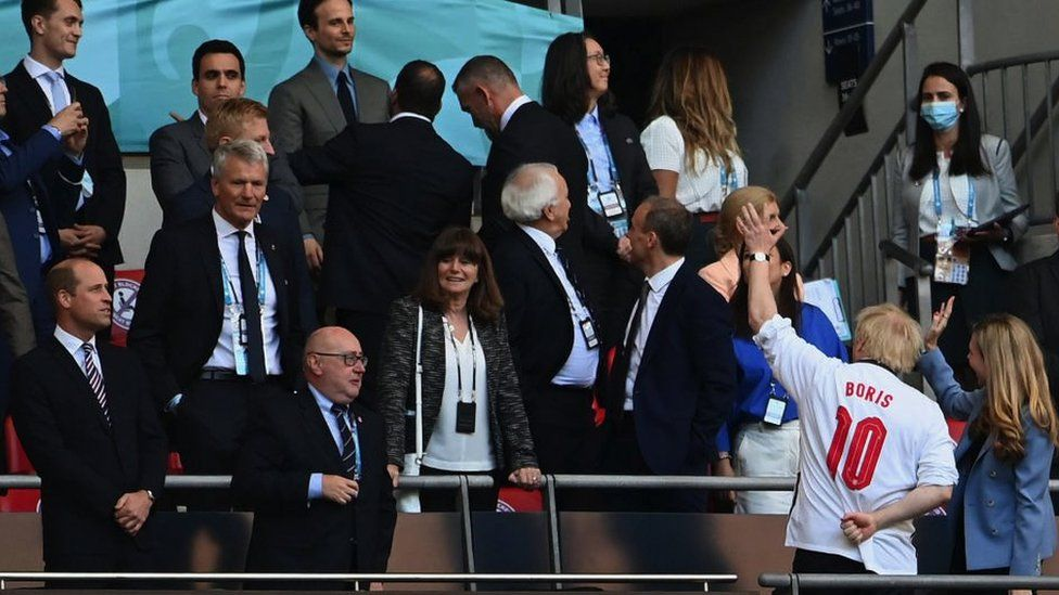 Prince William, Boris Johnson and Carrie Johnson