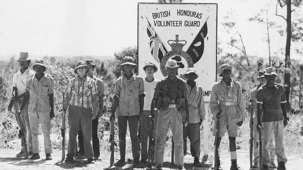 Volunteer guard in British Honduras