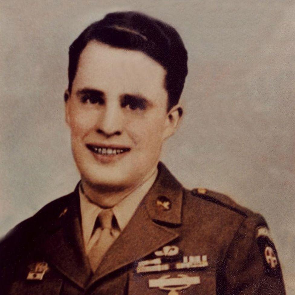 Dutch Schultz in his uniform in 1945