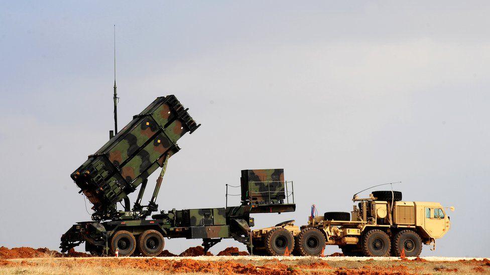 A Patriot missile launcher