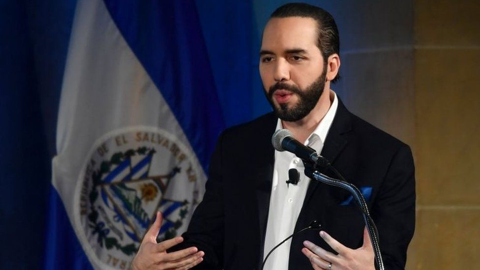 El Salvador's President Nayib Bukele. File photo
