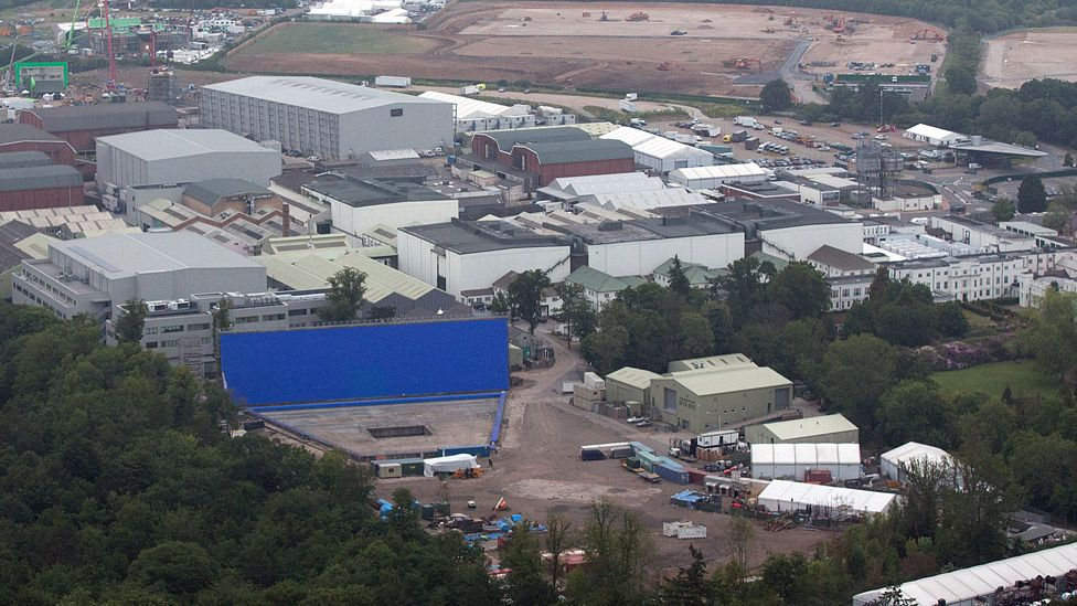 Aerial view of Pinewood