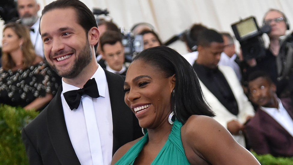 Serena Williams and Alexis Ohanian posed for photos at an event in New York