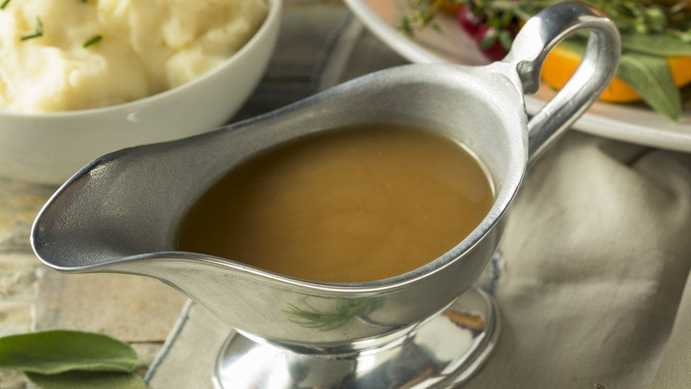 A saucer of gravy