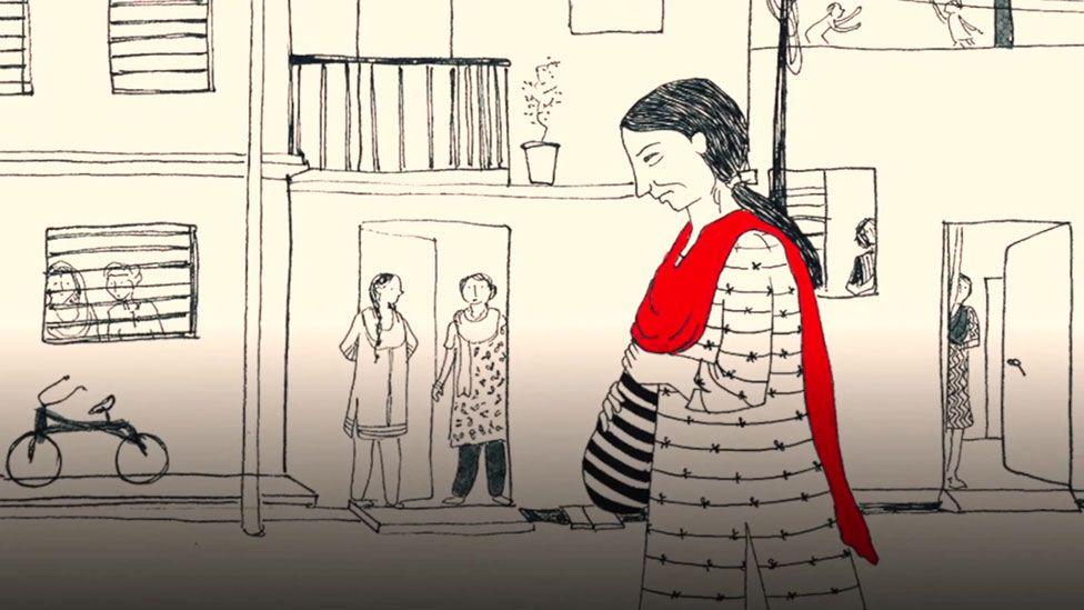 Geeta watched from doorways