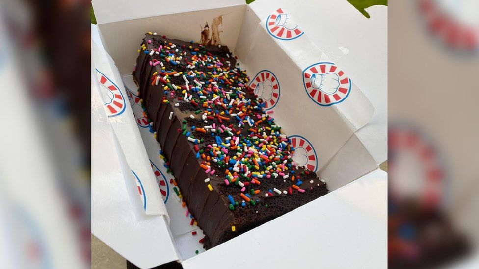 A cake with sprinkles