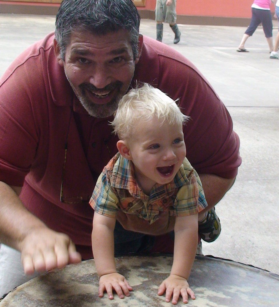 Miles Harrison and his son Chase