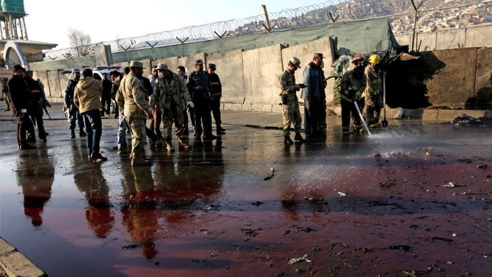 Site of Kabul bomb attack
