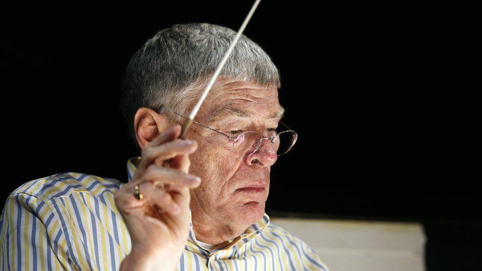 "Sir Jeffrey during a rehearsal of the Benjamin Britten opera ""Billy Budd"" in Paris in 2010"
