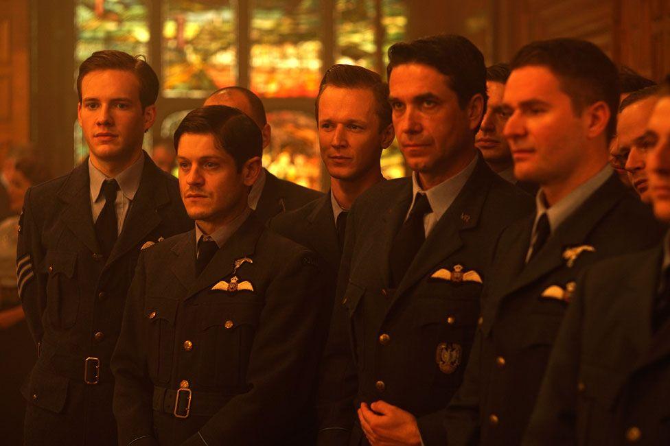 Pilots of 303 squadron in the new film, Hurricane, including Krystof Hadek (Frantisek) at far left