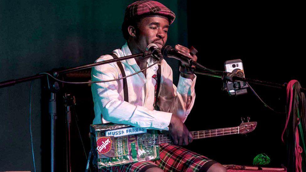 Faith Mussa performing live
